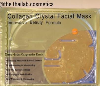 Тайская Коллагеновая Маска для Лица с биоактивным золотом Многоразовая 60 г Collagen Сrystal Facial Mask Belov