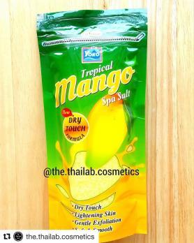 Тайский Скраб для Тела Соляной с Манго, Тайская Спа Соль для Ванны 300г Yoko