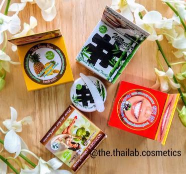 Тайская Зубная Паста концентрированная фруктовая отбеливающая в ассортименте 25г Siam Spa