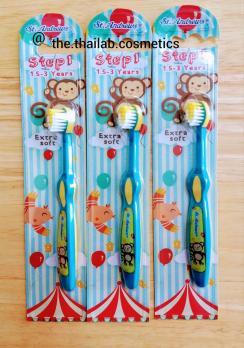 Тайская Зубная Щётка Детская для самых маленьких от 1,5 до 3 лет, Step 1, Extra Soft, St. Andrews