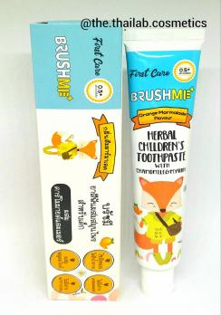 Тайская Детская Зубная Паста со вкусом апельсиновой мармеладки без фтора, сахара, СЛС, парабенов 40 г Herbal Children's Toothpaste BRUSHME
