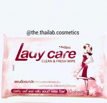 Тайские Салфетки для интимной гигиены 10шт Mistine Lady Care Clean and Fresh Wipe