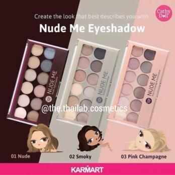 Тайские Тени Нюдовые Палетка 12 цветов Nude Me Eyeshadow Cathy Doll №03 «Pink Champagne» 12г