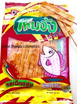 Тайские Чипсы рыбные на палочке с перцем 42,5г Fish Hot Stick Lady Bird Brand