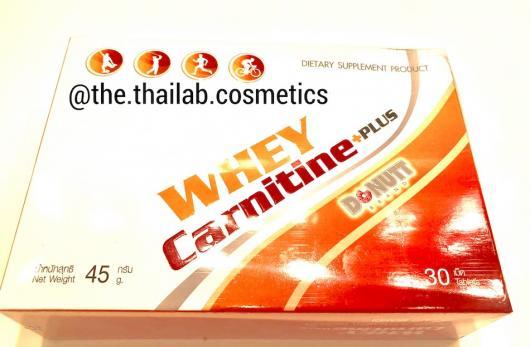 Тайская Пищевая Добавка для Похудения Whey Carnitine Plus 30 таблеток Donutt Brand