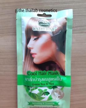 Тайская Охлаждающая Маска для Волос с Зеленым Чаем и Мятой Cool Hair Mask Green Tea & Mint 25мл