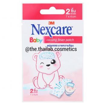 Тайский Охлаждающий Гелевый Детский Пластырь-Компресс от Температуры 2 шт 7*4 см NexCare Baby