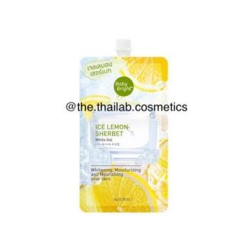 """Тайский Гель-сорбет """"Ледяной лимон"""" для лица и сияющей кожи 8 г Karmart Baby Bright Ice Lemon Sherbet White Gel"""